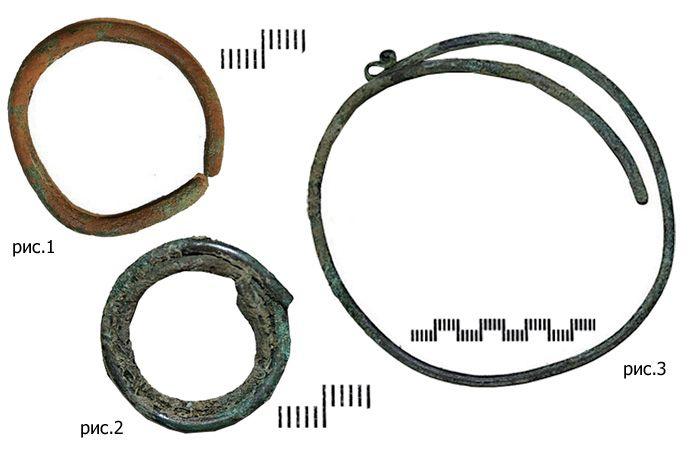 Проволочные височные кольца.
