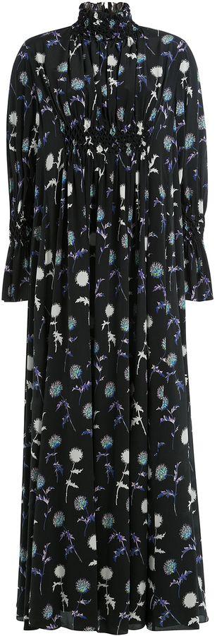 Kenzo Printed Silk Maxi Dress
