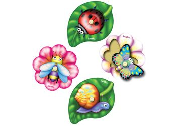 Tuzzles Garden Creatures Inset Set. This set of four wooden knob puzzles depicts typical creatures that you might find in a garden.