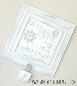 Christmas Advent Countdown Board. Shabby chic, and Gorg!  Easy diy tutorial!
