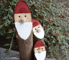 easy diy santa logs nisse, christmas decorations, crafts