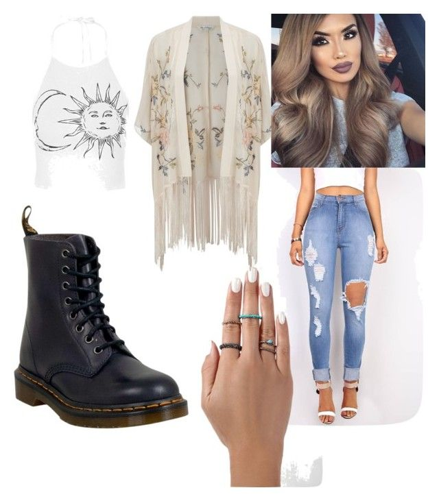 """""""white"""" by cosmina-styles-alina on Polyvore featuring Miss Selfridge and Dr. Martens"""