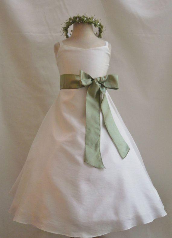 Sage colored flower girl dresses