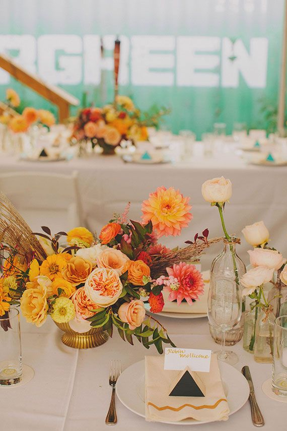 157 best modern wedding table decor images on pinterest for Modern fall table decorations