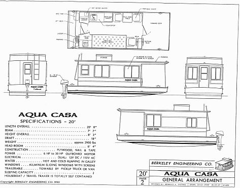 House boat supplies trailerable houseboat plans boats for Boat floor plans