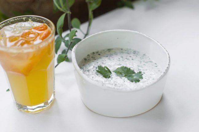 Холодный суп с мацони от Надэ   Культура русского застолья