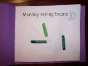 cute idea for a mini book to go with Eric Carle Today is Monday