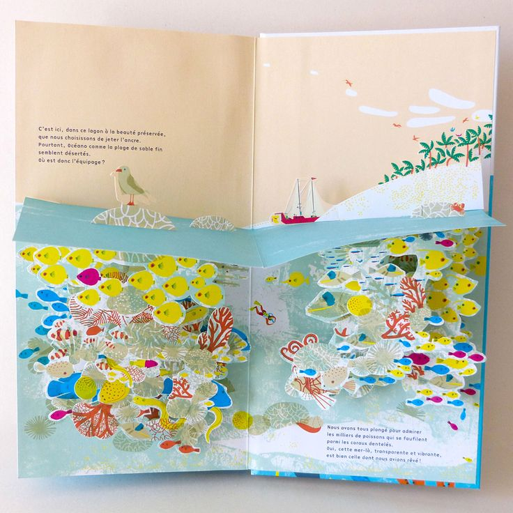 """""""Océano"""", popup book created by Anouk Boisrobert and Louis Rigaud, Helium edition"""