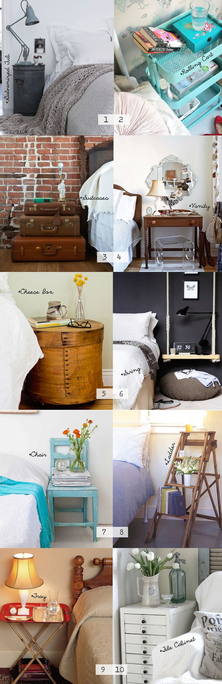 10 ideas for a fabulous and unique nightstand