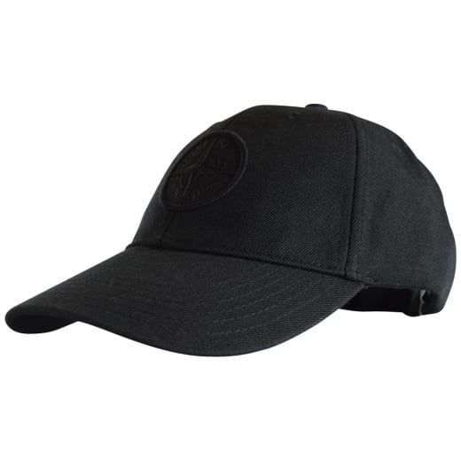 STONE ISLAND Black Compass Baseball Cap