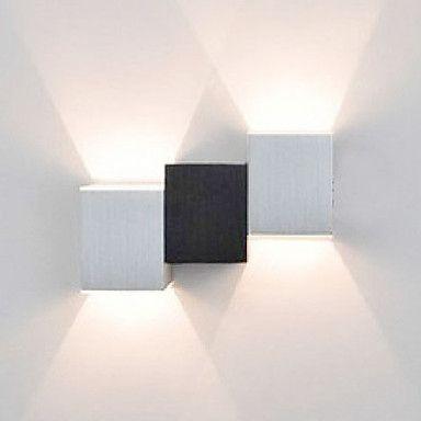 2W moderne LED wandlamp met Zwart Wit Cubic Body Up Down Ray of Light – EUR € 20.62
