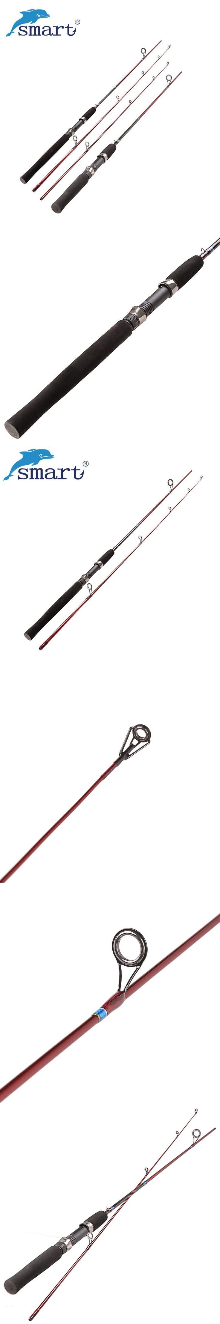 Smart 2Section Fishing Rod 1.68m/1.8m Carbon M/L Carp Fish Stand Pole Vara Cana De Pesca Spinning Rod Guide Peche #fishingrod
