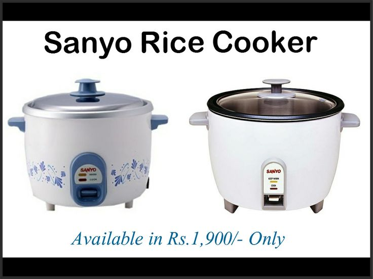 Get Sanyo Rice Cooker of MRP Rs.2,500/- only in *Rs.1900/-* So what are you waiting for get this item at your doorstep while placing an online order@ http://www.shopcherries.com/sanyo-rice-cooker.html