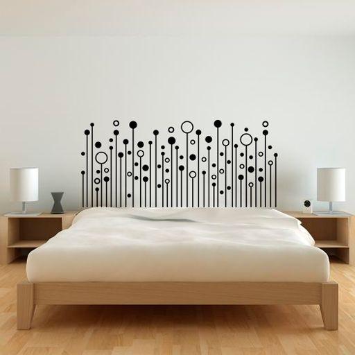 Las 25 mejores ideas sobre dormitorios baratos en for Vinilos habitacion matrimonio