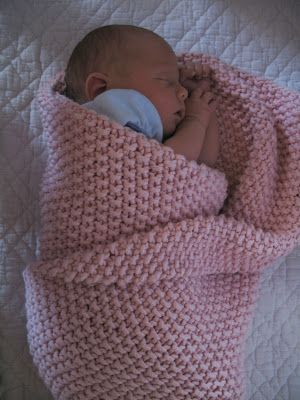 seed stitch baby blanket