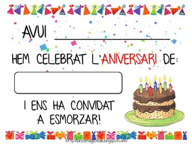 Idees Magistrals: Cartell d'aniversari