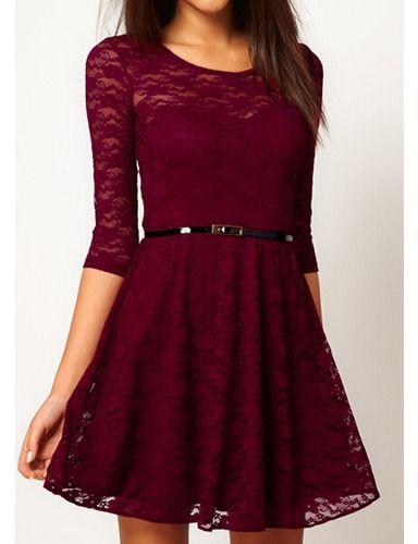 vestidos de encaje color vino - Buscar con Google