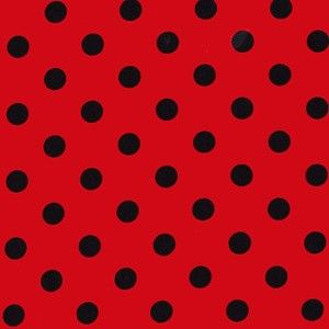 One 1 Yard  Thats It Ruby Black Red Fabric Micheal by ShuShuStyl