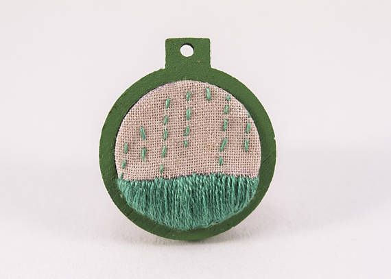 Hey, I found this really awesome Etsy listing at https://www.etsy.com/au/listing/532561970/mini-embroidery-hoop-art-green-rain