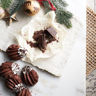 Sablés aux deux chocolats
