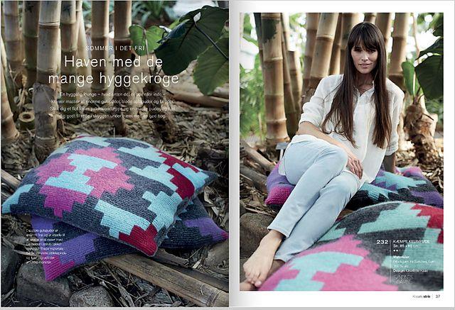 Ravelry: Kæmpe Kelim pude pattern by Charlotte Kaae