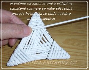 Triángulo para hacer estrella de 6 puntas