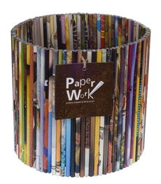 What a cool wastepaper basket this would make.