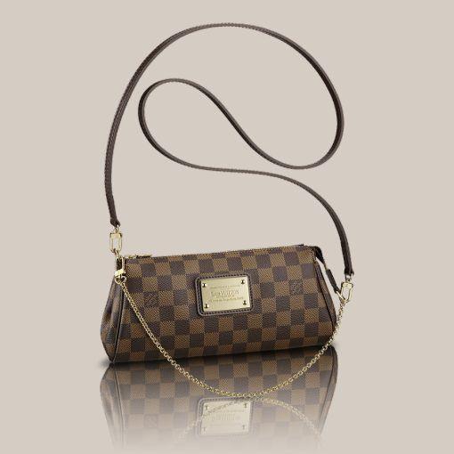 LOUISVUITTON.COM - Eva Clutch Damier Ebene Canvas Handbags