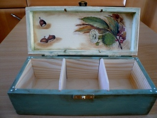 jewelry box (make partitions like that for the interior)
