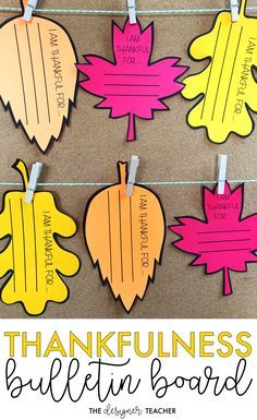 Cultivate an attitude of gratitude in your students with this beautiful Thanksgiving Thankfulness Bulletin Board Kit! There are multiple sizes and styles (primary lines, blank, etc.) of leaves, making this the perfect low-prep, meaningful activity for your November bulletin board.