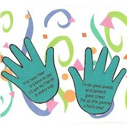 New Years Handprint Poem Craft - Pinned by @PediaStaff – Please visit http://ht.ly/63sNt for all (hundreds of) our pediatric therapy pins