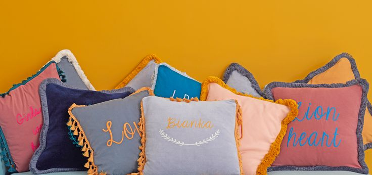 Typography cushion