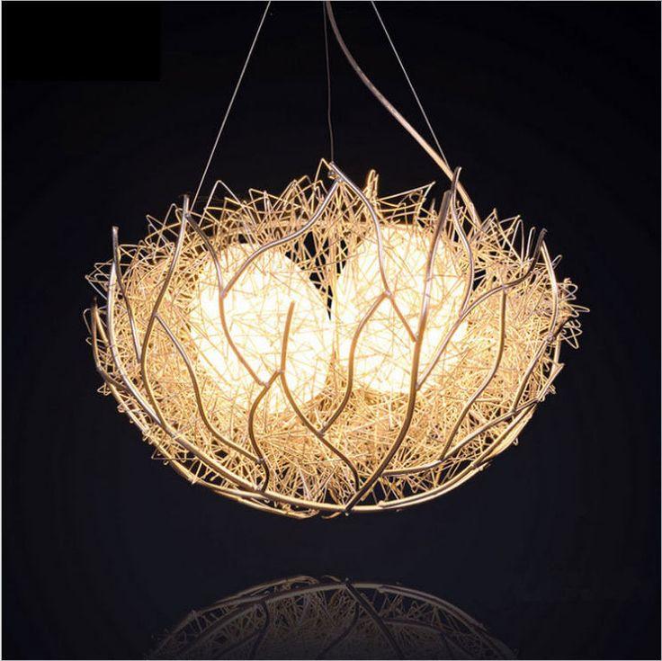Modern Minimalist Aluminum Nest Round Led Lamp Chandelier Creative