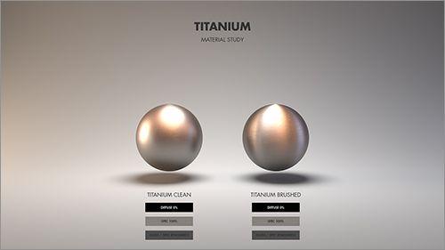 チタニウムの質感