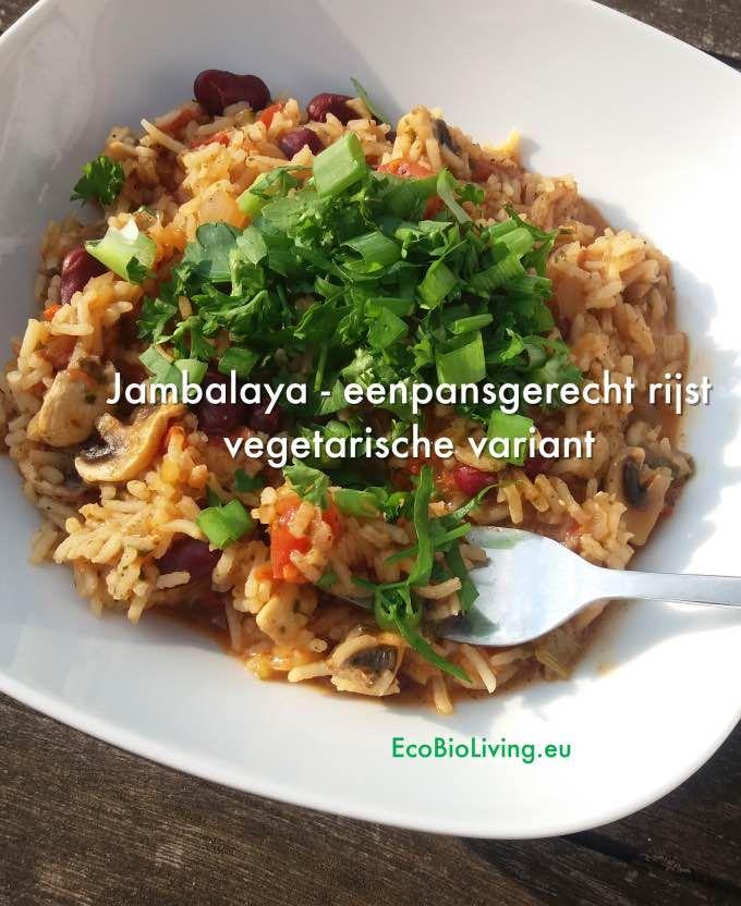 Jambalaya - eenpansgerecht met rijst - vegetarische variant