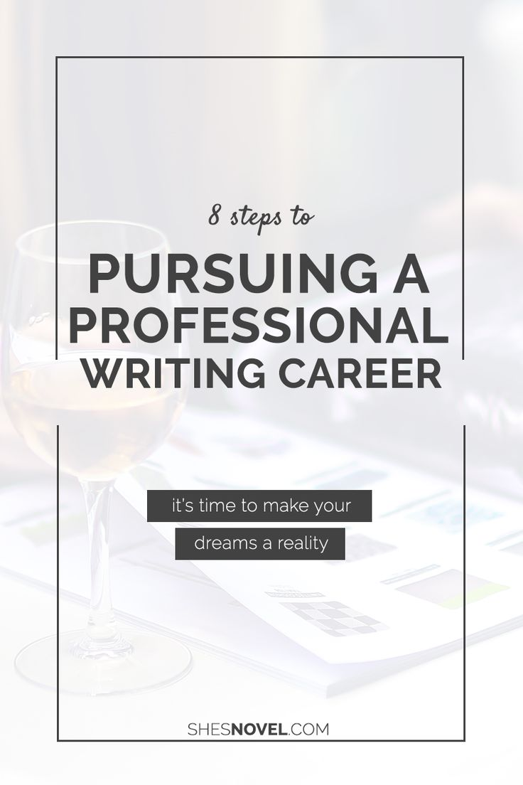 How do I become a professional writer?