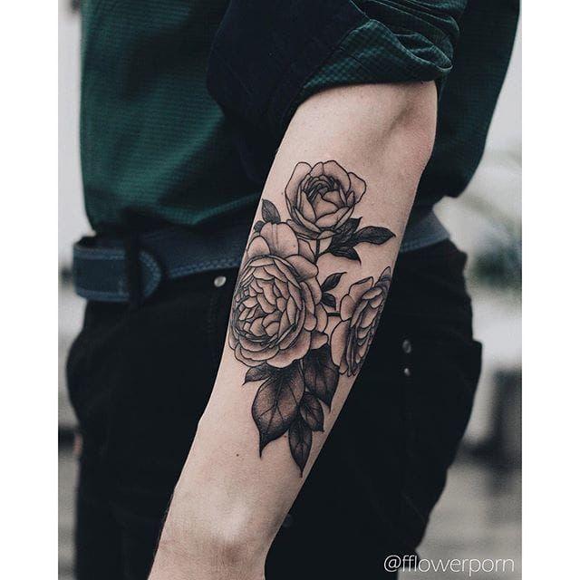 Men's Rose tattoo More