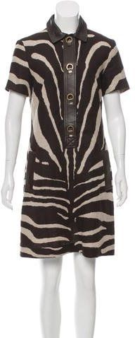Michael Kors Linen Zebra Print Dress