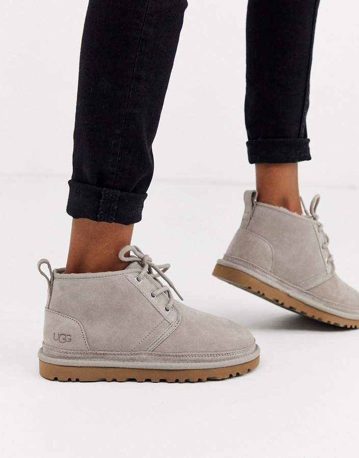Ugg UGG Neumel Gray Lace Up Ankle Boots