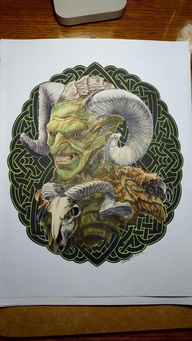 Horned Imp from Bennett and Mae Klein's book,  Mythic. Colored with Prisma premier pencils and markers by Vicki Patterson.