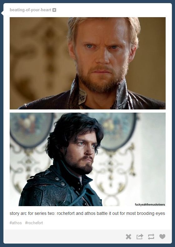 The Musketeers - Athos vs Rochefort. Haha that comment <3 head canon accepted!