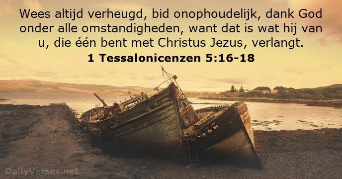 1 Tessalonicenzen 5:16-18 - dailyverses.net