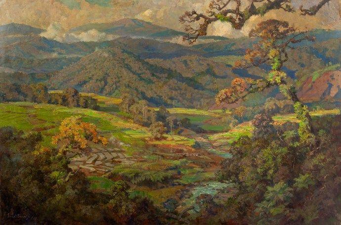Ernest Dezentjé (Jatinegara (Nederlands-Indië) 1884-1972 Jakarta (Indonesië)) Landschap in Indonesië
