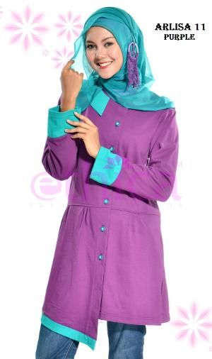 Baju Blus Kaos Ethica Arlisa 11 Purple