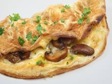 Omelet met champignons en kaas