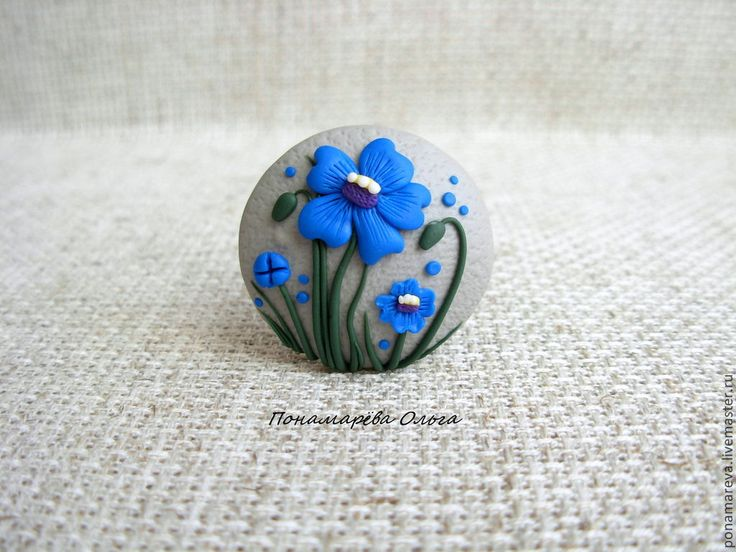 Синие цветы. Брошь - брошь цветок,брошь цветы,полевые цветы,брошка цветок