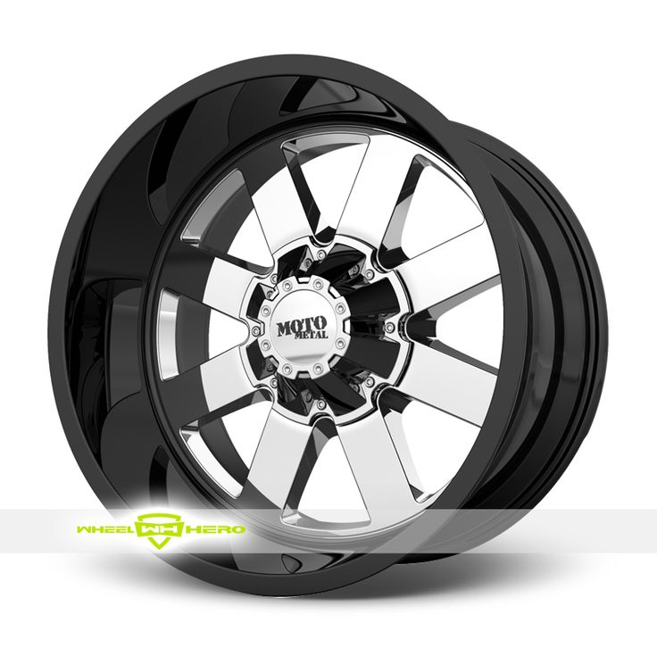 MOTO Metal MO962 Chrome PVD with Black Wheels For Sale & MOTO Metal MO962 Rims And Tires