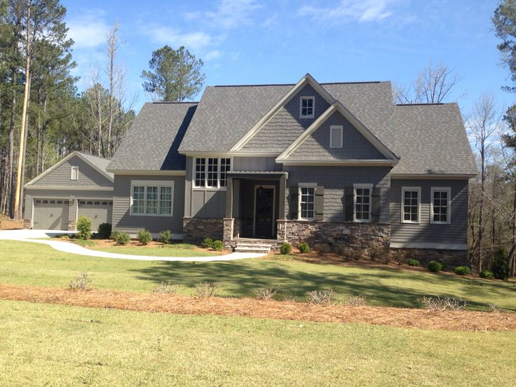 Craftsman Exterior Gray Stone Mindful Gray With Gauntlet Gray Shutters Craftsman Exterior