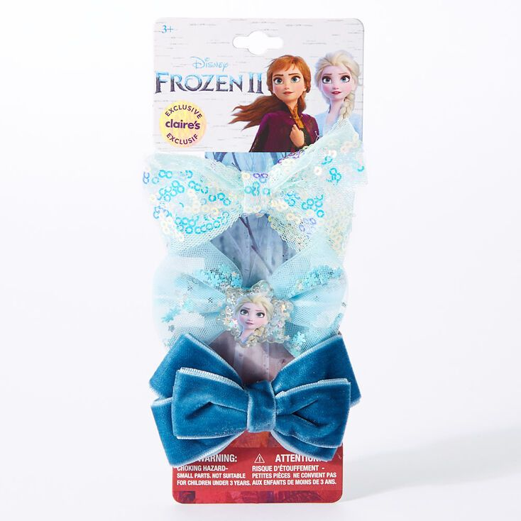 Claire/'s Girl/'s Glitter Princess Snap Hair Clips Blue//Pink//White