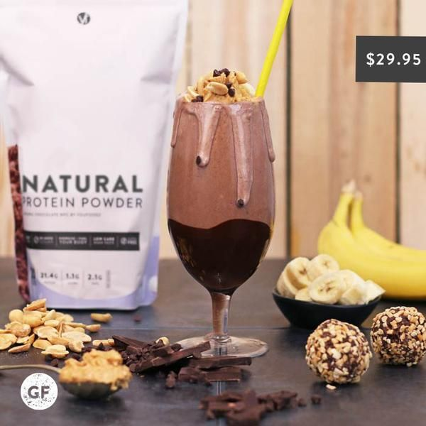 YouFoodz | Natural Protein Powder - Chocolate $29.95 | A premium, low calorie, high protein shake - that's completely natural! There's no added sugar or preservatives, plus it's gluten free, making it the perfect way to energise and fuel your body #BloatFree | #Youfoodz #HomeDelivery #YoullNeverEatFrozenAgain
